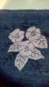 Interfacing is the perfect tool to transfer embroidery designs on denim.